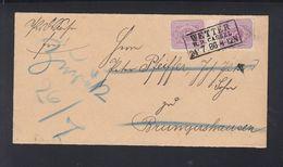 Dt. Reich Zwischenstegpaar 1886 Wetter Nach Brungershausen Retour - Briefe U. Dokumente