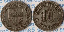 Notgeld Coblenz Koblenz 10 Pfg. 1918 Eisen Kriegsgeld (p574 - [ 2] 1871-1918 : Imperio Alemán