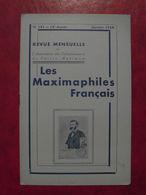 LES MAXIMAPHILES FRANÇAIS : REVUE MENSUELLE N°141 (1959) / ASSOCIATION DES COLLECTIONNEURS DE CARTES MAXIMUM (FRANCAIS) - Filatelie En Postgeschiedenis