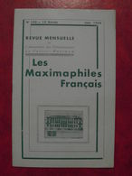 LES MAXIMAPHILES FRANÇAIS : REVUE MENSUELLE N°145 (1959) / ASSOCIATION DES COLLECTIONNEURS DE CARTES MAXIMUM (FRANCAIS) - Filatelie En Postgeschiedenis