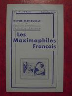 LES MAXIMAPHILES FRANÇAIS : REVUE MENSUELLE N°147 (1959) / ASSOCIATION DES COLLECTIONNEURS DE CARTES MAXIMUM (FRANCAIS) - Filatelie En Postgeschiedenis