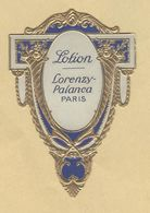 Etiquette Gaufrée Parfum Lotion Lorenzy-Palanca PARIS Format : 4,4 Cm X 6,5 Cm En Superbe.Etat - Labels