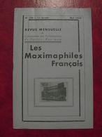 LES MAXIMAPHILES FRANÇAIS : REVUE MENSUELLE N°154 (1960) / ASSOCIATION DES COLLECTIONNEURS DE CARTES MAXIMUM (FRANCAIS) - Filatelie En Postgeschiedenis