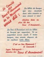 WW2 - 1939 - Propagande Pour LES BONS D'ARMEMENT De LA MAYENNE - Signature Autographe Du Maire - Documentos Históricos