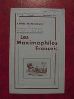 LES MAXIMAPHILES FRANÇAIS : REVUE MENSUELLE N°169 (1961) / ASSOCIATION DES COLLECTIONNEURS DE CARTES MAXIMUM (FRANCAIS) - Filatelie En Postgeschiedenis