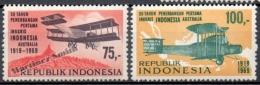 Indonésie - Indonesia 1969 Yvert 584-85, 50th Anniv. Of The First Flight England - Australia Via Indonesia - MNH - Indonesia