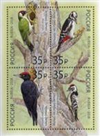 Russia 2018 Birds Woodpeackers S/S  MNH - Ongebruikt