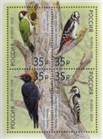 Russia 2018 Birds Woodpeackers S/S  MNH - Neufs