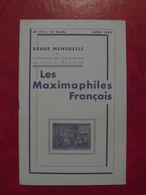 LES MAXIMAPHILES FRANÇAIS : REVUE MENSUELLE N°176 (1962) / ASSOCIATION DES COLLECTIONNEURS DE CARTES MAXIMUM (FRANCAIS) - Filatelie En Postgeschiedenis