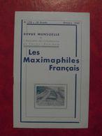 LES MAXIMAPHILES FRANÇAIS : REVUE MENSUELLE N°178 (1962) / ASSOCIATION DES COLLECTIONNEURS DE CARTES MAXIMUM (FRANCAIS) - Filatelie En Postgeschiedenis