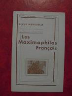 LES MAXIMAPHILES FRANÇAIS : REVUE MENSUELLE N°179 (1962) / ASSOCIATION DES COLLECTIONNEURS DE CARTES MAXIMUM (FRANCAIS) - Filatelie En Postgeschiedenis