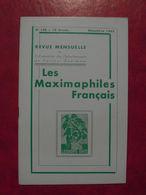 LES MAXIMAPHILES FRANÇAIS : REVUE MENSUELLE N°180 (1962) / ASSOCIATION DES COLLECTIONNEURS DE CARTES MAXIMUM (FRANCAIS) - Filatelie En Postgeschiedenis