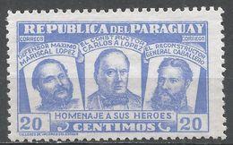 Paraguay 1954. Scott #482 (M) Three National Heroes - Paraguay