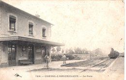 58 CORVOL L'ORGUEILLEUX La Gare - Animée Avec Train - Otros Municipios