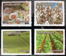 ZIMBABWE STAMPS, SET @F 4, 2014, FL@RA, MNH - Zimbabwe (1980-...)