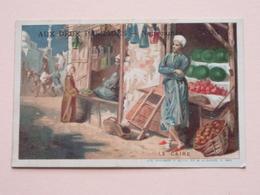 AUX DEUX PASSAGES - Nouveautés - LYON ( Le Caire ) ( Lith. Vieillemard / Voir Photo ) ! - Chromos