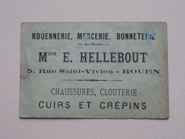 Mon E. HELLEBOUT - 5 Rue Saint-Vivien ROUEN Chaussures, Clouterie ( L'équitation ) ( Voir Photo ) ! - Publicités