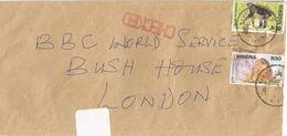 Nigeria 2001 Warri Bonobo Lion Terrorism Anthrax Checked BBC Cover - Nigeria (1961-...)