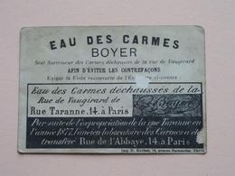 EAU Des CARMES BOYER Rue De L'Abbaye 14 Paris / Contrefaçons ( D. Hutinet) ( Voir Photo ) ! - Publicités