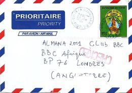 Tchad 2001 N'Djamena Fort Lamy Terrorism Anthrax Checked BBC Cover - Tsjaad (1960-...)