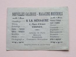 A La Ménagère - 8 Place D'Armes VERNON ( Imageries Réunies De Jarville-Nancy ) ( Voir Photo ) ! - Publicités