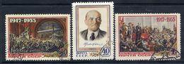 SOVIET UNION 1955 October Revolution Anniversary, Used.  Michel 1786-88 - 1923-1991 USSR