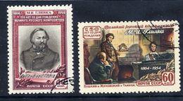 SOVIET UNION 1954 Glinka Birth Anniversary, Used.  Michel 1725-26 - 1923-1991 USSR