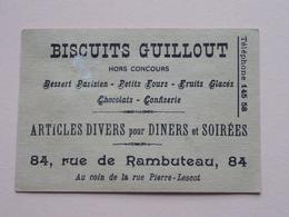 Biscuits GUILLOUT Rue De Rambuteau 84 ( Chausseur A Cheval ) Imp. Camis Paris ( Voir Photo ) ! - Publicités