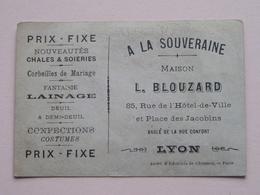 A La Souveraine Maison L. BLOUZARD Rue De L'Hôtel De Ville 85 LYON / Leçon D'équitation ( Voir Photo ) ! - Publicités