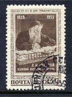 SOVIET UNION 1953 Tolstoy Birth Anniversary, Used.  Michel 1676 - 1923-1991 USSR