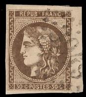 France Bordeaux YT N° 47 Oblitéré Signé Calves. Premier Choix. A Saisir! - 1870 Bordeaux Printing