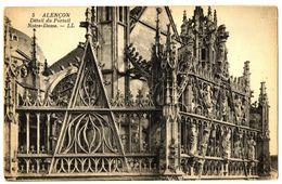 CPA 61 Orne Alençon Détail Du Portail Notre-Dame - Alencon
