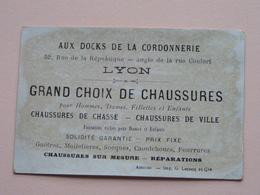 Au DOCKS De La CORDONNERIE - LYON - Chaussures De Chasse & Ville ( Imp. G. Lecocq Amiens ) ( Voir Photo ) ! - Publicités