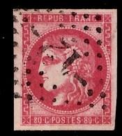 France Bordeaux YT N° 49B Rose Vif Oblitéré. Signé Calves. Premier Choix. A Saisir! - 1870 Bordeaux Printing