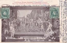 RITCHART, ENTRADA DE JAIME I EN VALENCIA. BIBLIOTECA MUSEO BALAGUER.-CIRCULEE TO URUGUAY-TBE-BLEUP - Peintures & Tableaux