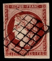France YT N° 6B Carmin-brun. Signé Calves. Premier Choix. A Saisir! - 1849-1850 Cérès