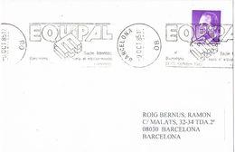 27119. Tarjeta BARCELONA 1985. Feria EQUIPAL. Equipamiento Urbano, Rodillo Especial - 1931-Oggi: 2. Rep. - ... Juan Carlos I
