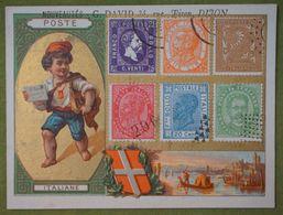 Fonds Or - Pays - Timbre Poste - Poste Italiane - Imp. Lessertisseux - Cromo