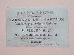 A LA PLACE RASPAIL Fabrique De CHAPEAUX - P. Fleury & Cie Place Raspail 1 - LYON ( En Colère ) ( Voir Photo ) ! - Publicités