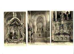 CPA 56 Morbihan Sainte-Anne D'Auray Intérieur De La Basilique Lot De 3 Cartes - Sainte Anne D'Auray