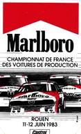 AUTOCOLLANT   MARLBORO CHAMPIONNAT DE FRANCE DES VOITURES DE PRODUCTION  ROUEN  11/12 JUIN 1983. - Autocollants