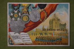 Fond Illustré - Pays Médailles - FRANCE - Imp. Th Dupuy Et Fils - Cromo