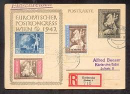 DR-3.Reich 820III ABART Auf KARTE (G0423 - Briefe U. Dokumente