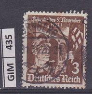 GERMANIA IMPERO, 1935Insurrezione Nazional Socialista, 3 Pf, Usato - Oblitérés