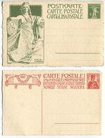 1754 -  1909 UPU Spezialausgabe 5 + 10 Rp. Auf Büttenpapier - Sauber Ungebrauchte Serie - Ganzsachen