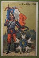 Fond Doré - Pays Médailles - FRANCE - Ordre De La Légion D'honneur - Imp. Bouvetier Et Cie - Trade Cards