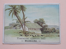 N. BONTEN Theehandel Opgericht 1820 DORDRECHT ( Chromo / Prent - Zie Foto's Voor Detail ) ! - Publicités