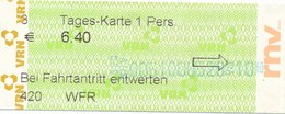 BRD Mannheim Tages - Karte RNV Verkehrsverbund Rhein-Neckar - Europa