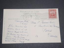 CUBA - Oblitération De Habana Sur Carte Postale Pour Paris En 1913 - L 12044 - Covers & Documents