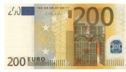 "200 EURO  ""X""   Firma DRAGHI   E 004 F4  X07   /   FDS - UNC - EURO"